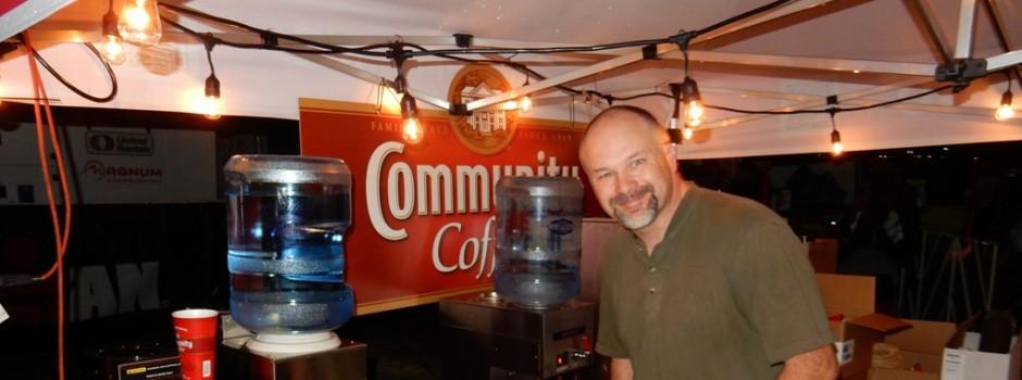 Volunteer Steven Palmer Cranks Out the Java!