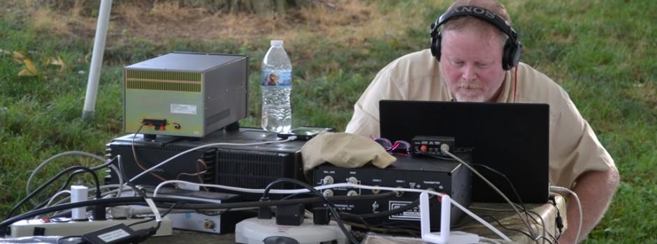 A Radio Operator Tunes-In
